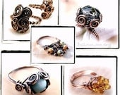 Ring Lovers Wire Wrap Jewelry Lessons 5 TUTORIAL PACKAGE PDF