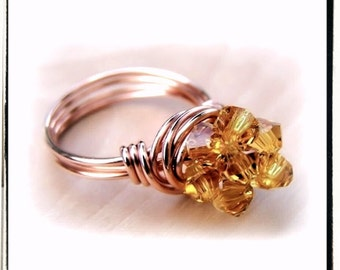 Wire Wrap Lesson Cluster Ring Jewelry Tutorial PDF
