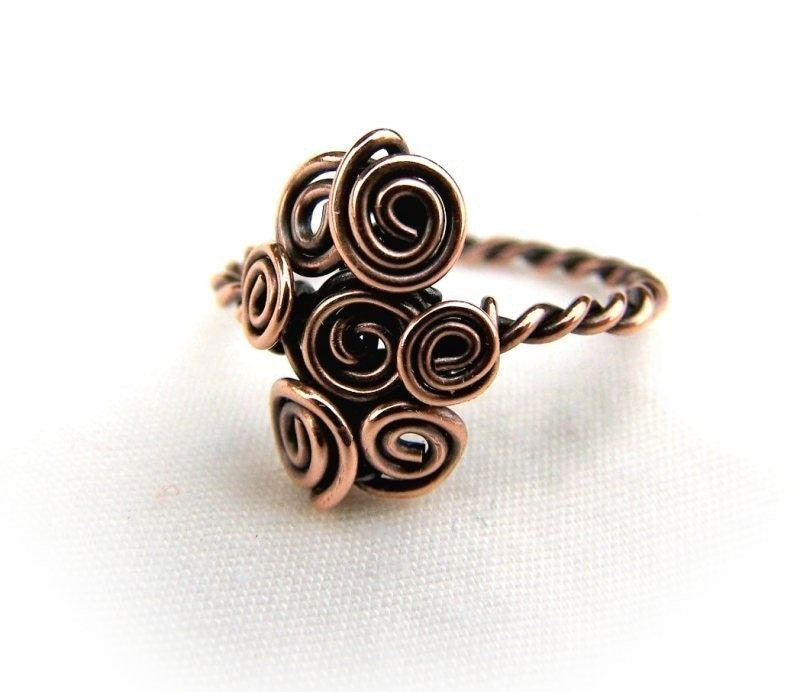 Wire Wrap Lesson Twisted Wire Ring Tutorial 2 Designs PDF