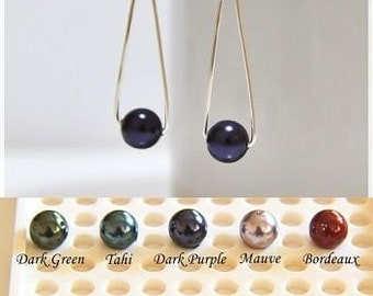 Balance Earrings (Choose your preferred color of Swarovski Elements crystal pearls or stones)