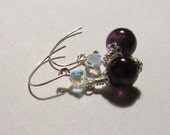 Genuine Purple Amethyst and AB Swarovski Crystal Earrings by TriannasTreasures