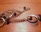 Silver and Garnet Necklace by TriannasTreasures