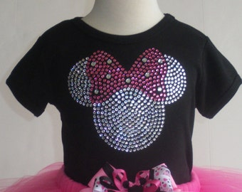 6 to 18 months clear/PINK Minnie Mouse T-Shirt for Disney costume