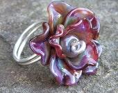 Lampwork Rose Ring