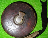 Antique Leather Tape Measure / Chesterman / Sheffield / England / Steampunk / Collectibles / Victorian