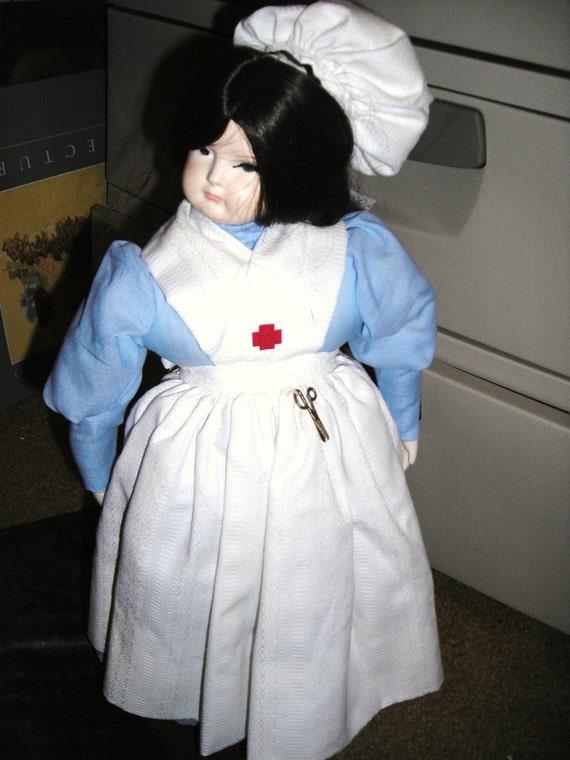 items similar to clara barton nurse doll angel of mercy