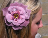 light pink and purple velvet millinery flower