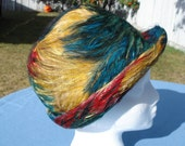 60s feather covered hat - a Jacqueline original