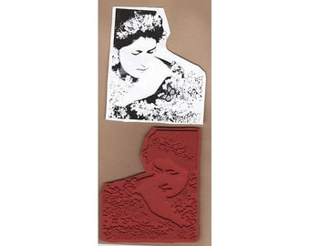Exotic Woman 5 - Large New UM Rubber Stamp - Collage - Crafts - ATCs - Cards - FREE Shipping