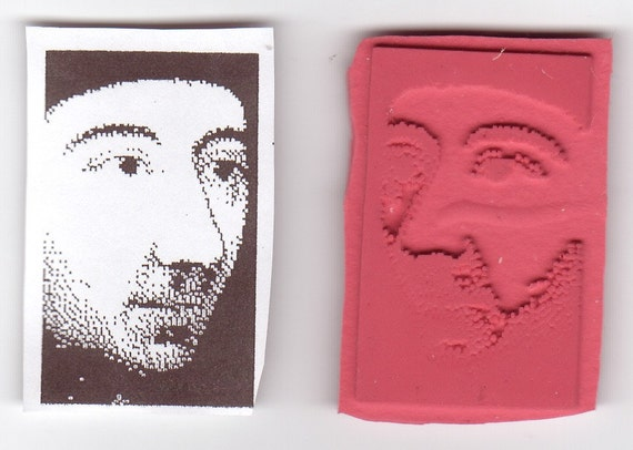 Vintage Style Men's Faces - Lot of 3 New UM Rubber Stamps - ATCs - Cards - Crafts - Collage - Domino Art - FREE Shipping