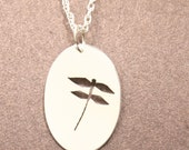 Dragonfly Charm, Silver Cutout Pendant, Handmade in Maine