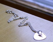 Silver chain necklace, 16 inches long for charms and pendants