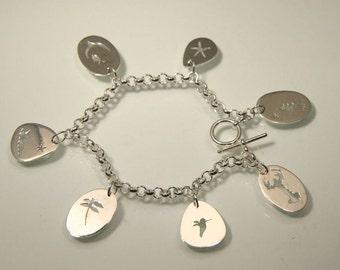 Summer Memento Charm Bracelet, Handmade in Maine