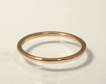 Custom Simple and Elegant, 14k Rose Gold Band, For the Bride, Handmade in Maine