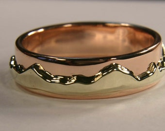 Tree of life ring women 39 s 14k gold wedding band handmade for Maine wedding bands