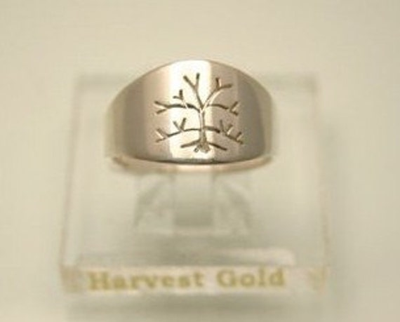 Signature Tree of Life, Women's Ring in Sterling Silver, Handmade in Maine