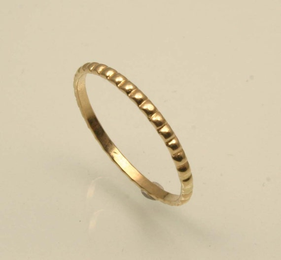 Items similar to elizabethan 14k yellow gold beaded for Maine wedding bands