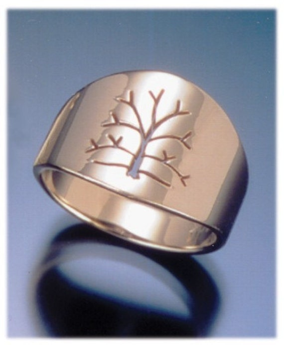 Tree of life men 39 s wedding band handmade in maine for Maine wedding bands