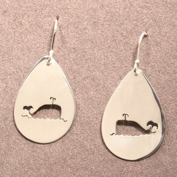 Whale-of-a-Time Sterling Silver Earrings