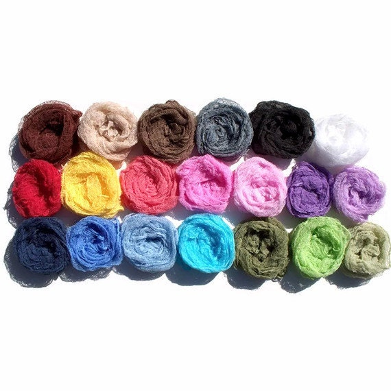 Cheesecloth Wraps - HIGH QUALITY - GRADE 50 Cheesecloth - Choose any 5 Colors - Photography Prop for Newborns or Maternity