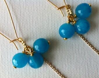 Lili Turquoise & Gold Earrings