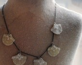 ON HOLD for Rachel: Staggered Lace Shell Necklace