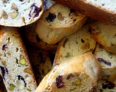 24 Organic Biscotti Toasted Pistachio Cranberry