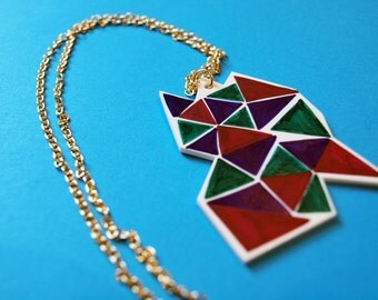 Geometric Pattern Necklace- Necklace -Accessories - Small Gift - Gift for All- Jewellery