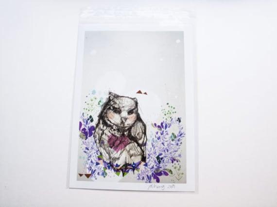 SALE Owl A4 Print - Owl Artwork - Home - Wall Art - Sale - Promo - Gift for All -Bird Print