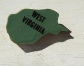 SALE West Virginia Wooden Vintage Puzzle Pin