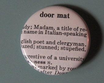 Door Mat Vintage Dictionary Pin