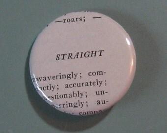 Straight Vintage Thesaurus Pin