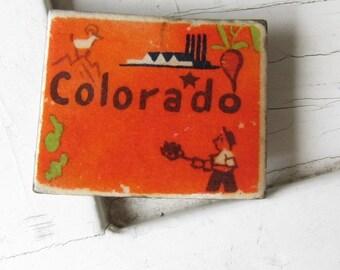 Colorado Vintage Puzzle Pin