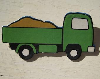 Dump Truck Vintage Ravensburger Puzzle Pin 1974