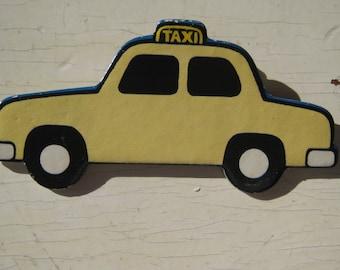Taxi Cab Vintage Ravensburger Puzzle Pin 1974