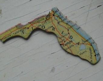 Florida Vintage Puzzle Pendant
