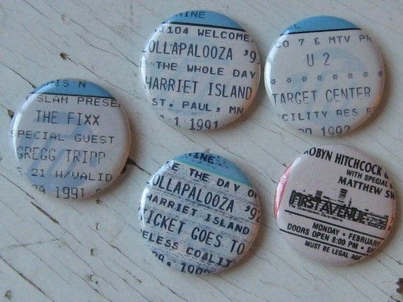 Event Ticket Magnet or Pin-Convo For a Reserved Custom Listing
