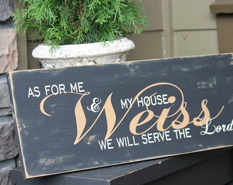 Family Sign, Custom Decorative Sign