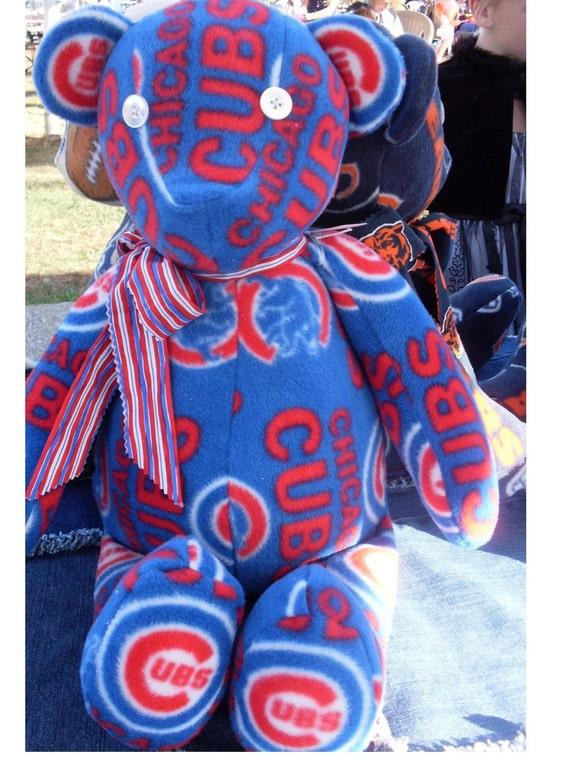 Chicago Cubs fleece teddy bear