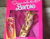 Vintage Rare  1984 Genuine Barbie Fashion Oscar De La Renta Dress in Original Box