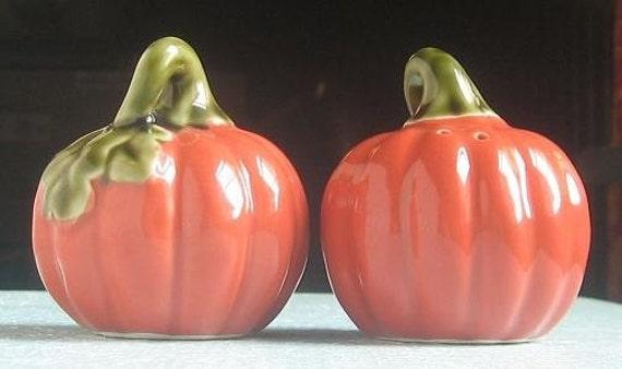 Last Pair- Autumn Pumpkin Salt and Pepper Shakers