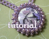 Wisteria Whirls Right Angle Weave Bezel Necklace - PDF Tutorial
