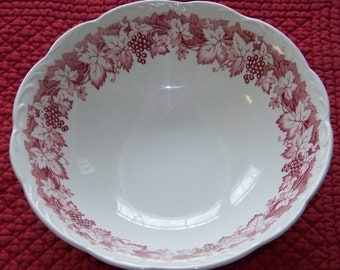 "Vintage English Staffordshire 8"" Bowl Meakin"