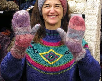 Easy Mittens and I Cord Headband Pattern
