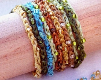 1.2.3. Stackers Beaded crocheted bracelets and necklaces pattern