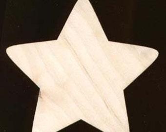 Star Shape  Unfinished Craft Wood Cutout 626