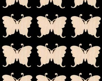Butterfly Shape Natural Craft Wood Cutout 358