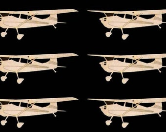 6 Pieces Cessna Plane C170 Shape 6 inches wide Natural Craft Wood Cutout 233-6