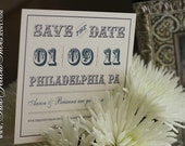 Digital Vintage Save the Date Template (Text and design colors of choice)