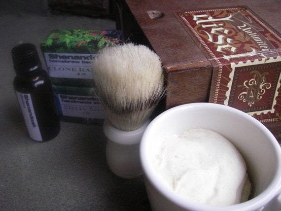 Old Fashioned Shaving Brush And Mug